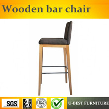U-BEST High Quality of ash Wood Barstool,modern solid wood high bar stool counter chair for home use