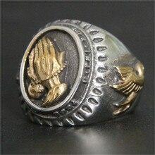 1 шт. новейшее Золотое серебряное кольцо для рук 316L из нержавеющей стали модное крутое кольцо мира