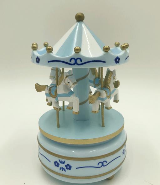 Круглые музыкальные шкатулки Merry-go-round, геометрические музыкальные украшения для детской комнаты, подарки унисекс, Деревянная Рождественская карусель, коробка для домашнего декора, 1 шт - Цвет: 5