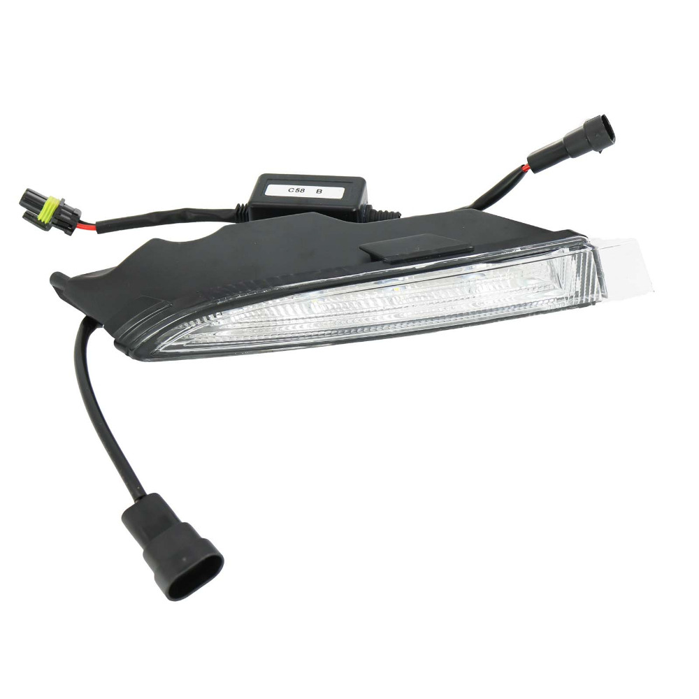 For VW Golf 6 MK6 R20 2009 2010 2011 2012 2013 Right Side LED DRL Daytime Running Light Fog Lamp Fog Light Car LED Light car rear trunk security shield cargo cover for volkswagen vw golf 6 mk6 2008 09 2010 2011 2012 2013 high qualit auto accessories