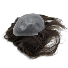 Tự Làm Da Đế Toupee Tóc Dài 10 ~ 16 Inch Nữ Tóc Topper