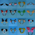 Kids Adult Animal Ear Headband Dog Elephant Monkey Headwear Headpiece Masquerade Party Favors Gift Christmas Halloween