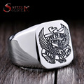 Steel soldier stainless steel fashion personality eagle ring for men titanium steel high quality polish jewelry