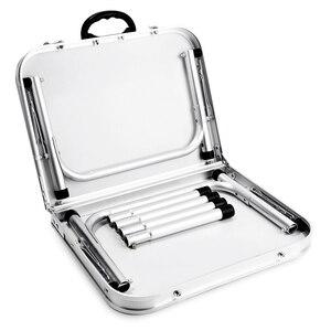 Image 5 - Aluminium Vouwen Camping Tafel Laptop Bed Bureau Verstelbare Outdoor Tafels Bbq Draagbare Lichtgewicht Eenvoudige Regen Proof Gg