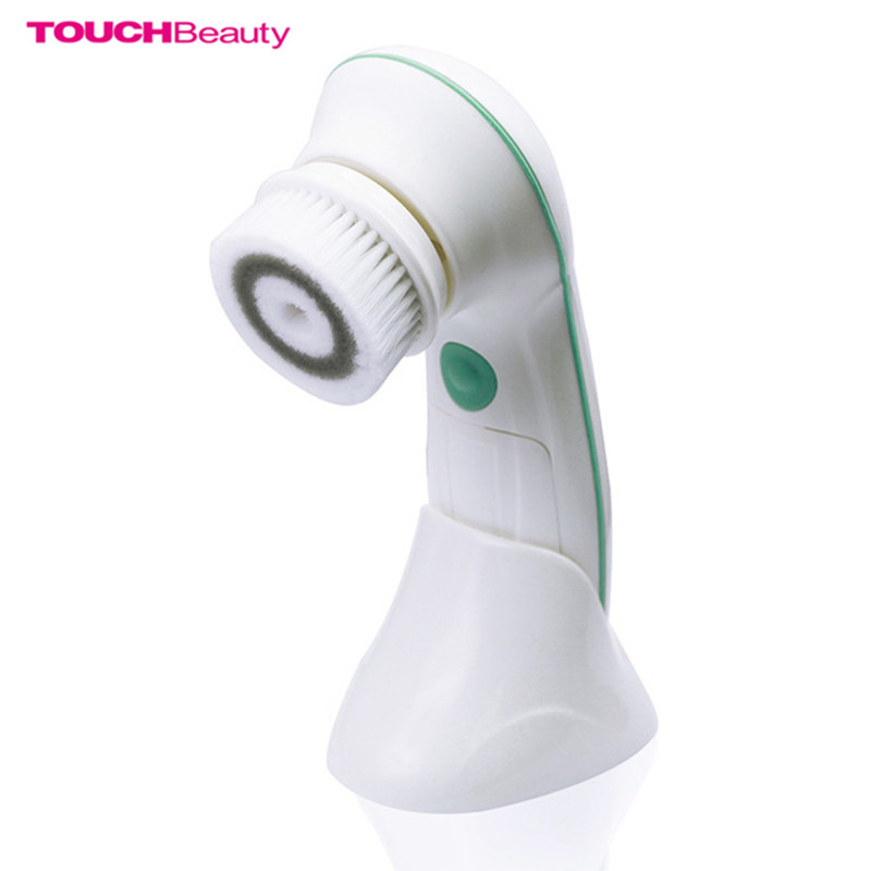 TOUCHBeauty TB-0759D Electric Facial Cleanser with Cleansing Brush Head 360 Degree Rotary 2 Speed Facial Cleansing Device New touchbeauty smart rechargeable dual head optical facial cleansing brush with inbuilt sensor and timer tb 1582