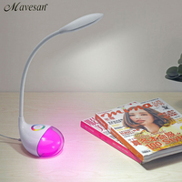 New Fashion Eye Protection LED Table lamp with color changeable base Reading Table Lamp Adjustable brightness for kids