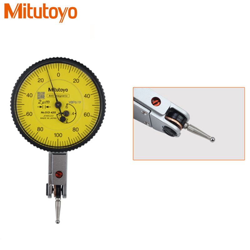 100% D'origine Japon Mitutoyo 513-425E Cadran Indicateur 0-0.6mm/0.002mm Micromètre Cadran D'essai Jauge Outils De Mesure