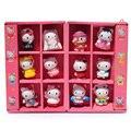 12 шт. / комплект Hello Kitty пвх рисунок игрушка KT 30 года подарок игрушки милый и прекрасный коробка мини-упакованы