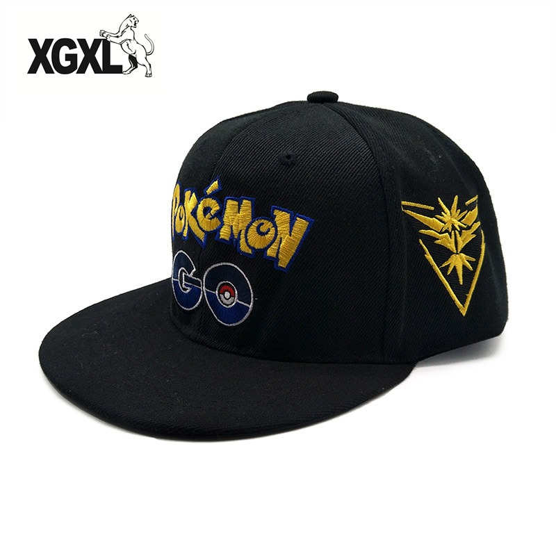 2018 New High Quality Pokemon Go Cap Hat Team Valor Team Mystic Team Instinct Pokemon Cap Pokemon Go Team Baseball Cap Hat