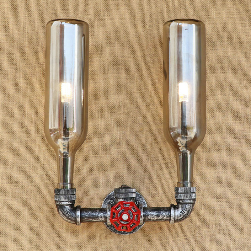 Retro Industrial steampunk lamp led wall lamp Glass shade iron rust bed light G4 bulb wall light for living room restaurant 220V стоимость