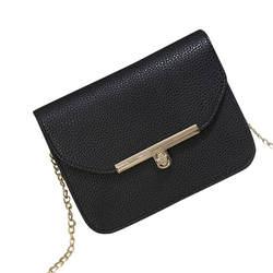 Для женщин Crossbody цепи сумка на ремне, цепь ремень лоскут дизайнер Сумки клатч дамы Курьерские сумки с металлической пряжкой-16