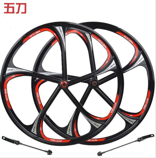 26 pouces en alliage de magnésium roue moyeu magnésium 5/6 couteau roulement roue jante VTT carte volant