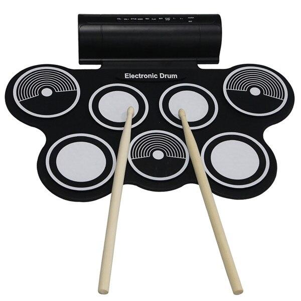 Profissional 7 Almofadas Rolo Portátil Up USB MIDI Drum Set