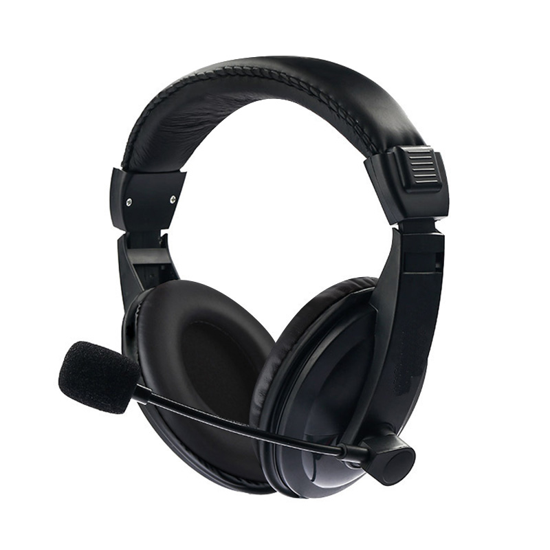 2018 New Gaming Headphone Wired Music Game Headset Stereo Sound Microphone Mic 3.5mm For PC Laptop Computer Phone Black Style handsfree mic headset leather usb wired stereo micphone headphone gaming earphones for sony ps3 ps4 pc game laptop black new