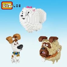HOT LOZ Mini Building Blocks Assemable Kids Creator Educational Toys for Children birthday Gifts DIY animal bear dogBricks Fun