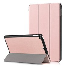 For Apple ipad mini 5 case fashionable three folds PU leather Stand Protective Case back Cover for ipad mini 4 Coque para stylish protective pu leather case cover stand for retina ipad mini pink