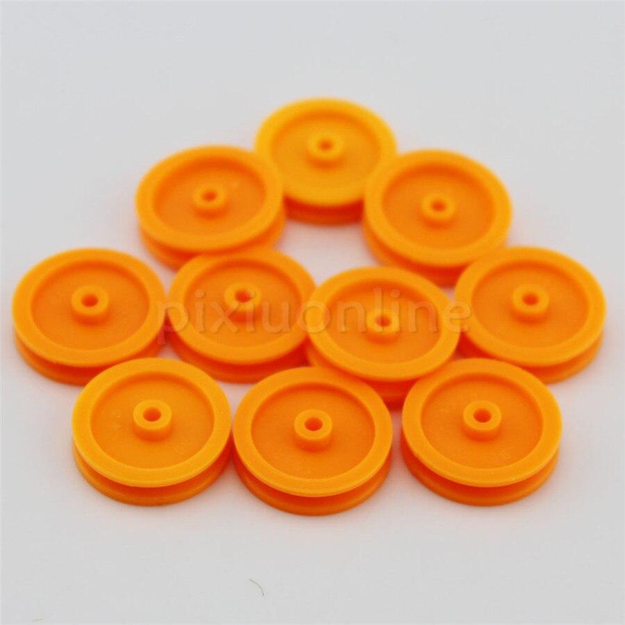 10 Teile/paket J347 2*17mm Gelb Kunststoff Modell Riemenscheibe Diy Micro Motor Getriebeteile Getriebe Paarung Teile QualitäT Zuerst