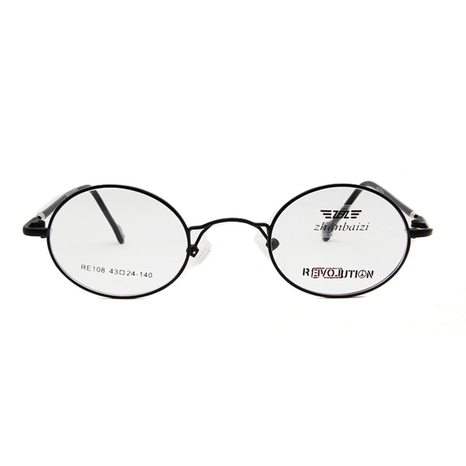 ZBZ Küçük Yuvarlak Metal Çerçeve Gözlük Erkek Kadın Miyopi - Elbise aksesuarları - Fotoğraf 6