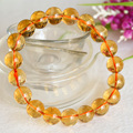 High Quality Natural Genuine Brazil Yellow Citrine Stretch Bracelet Round Beads 8mm,10mm,12mm Jewelry Beads Marriage 04394