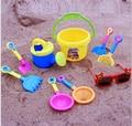 9 unids/set bebé herramientas de juego de arena, juguetes de playa, cubos, gafas, regadera