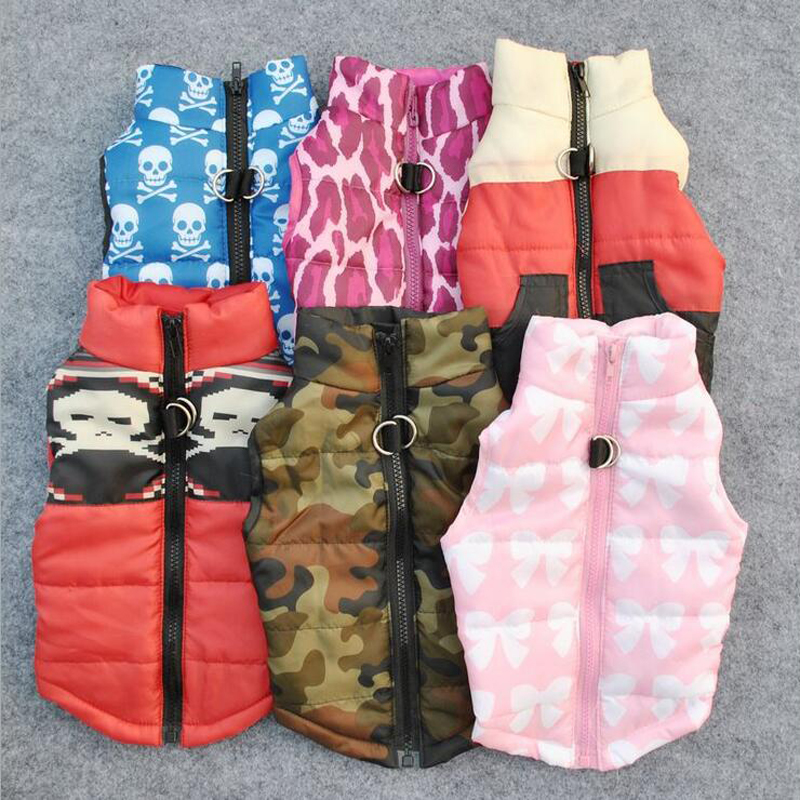 Winter Warm Dog Clothes Pet Coat Clothing Cotton Vest Harness Puppy Dog Costume Jacket App