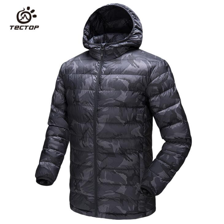 Hiking Clothings Winter Polyester Fiber Padded Jackets Men Outdoor Sports Windproof Thermal Lightweight Hooded Camouflage Hiking Down Coats Easy To Use