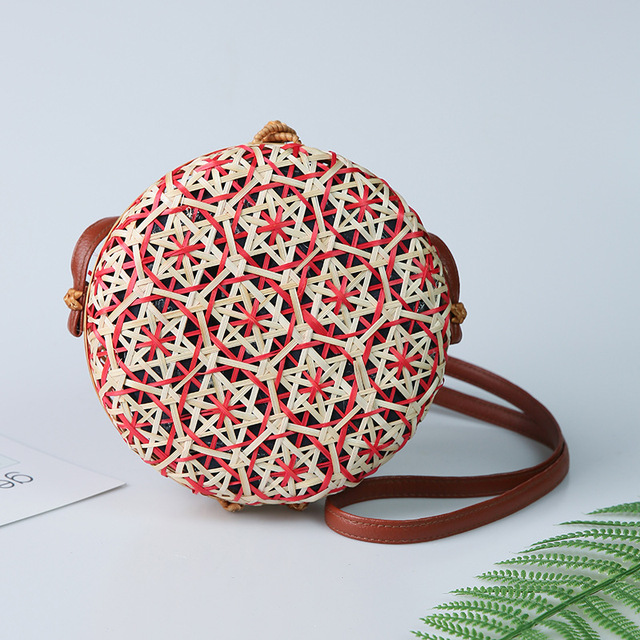 Round Straw Beach Bag...
