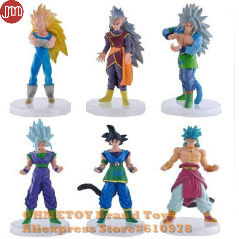 Toys & Hobbies Motivated Ohmetoy 6pcs Dbz Dragon Ball Z Super Saiyan Goku Vegeta Gohan Dragonball Wcf Toy G4 Anime Action Figure 15cm Kids Doll