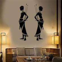 Wall Decals Tribal African Woman Bedroom Decoration Beauty Ancient tribe Sticker Vinyl Art Design Home Decor W330
