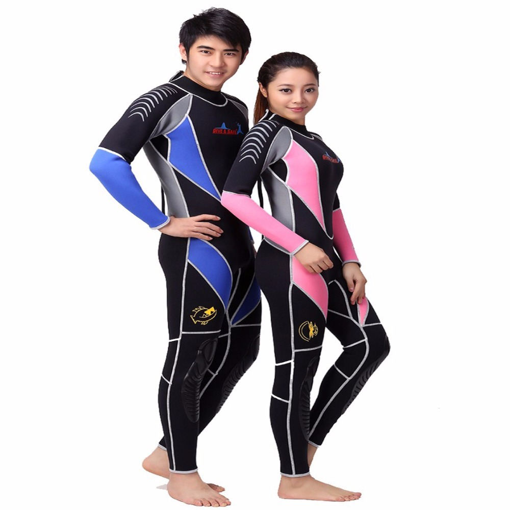 Neoprene 3MM Scuba dive Wet suit Lovers Wetsuit Equipment Snorkeling Jumpsuit One piece long sleeved Triathlon Spearfishing Surf локхарт э виновата ложь роман