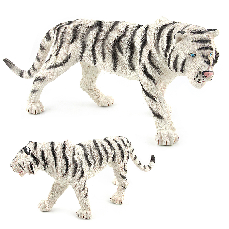 Toys-Set Modeling Animal-Models Plastic Cute White Bengal Classic Children Solid Zoo
