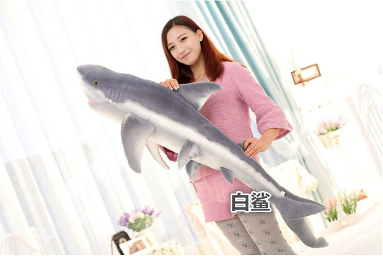 ФОТО simulation animal lifelike shark 140cm toy plush toy, throw pillow birthday gift b4921