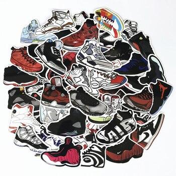 60Pcs/Lot Basketball Sneakers Sticker Waterproof Stickers For Wall Fridge Travel Suitcase Bike Sliding Plate Car Styling