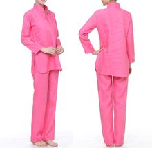 Spring&Autumn cotton&linen female yoga suits women lay clothing fitness coach meditation leading uniforms