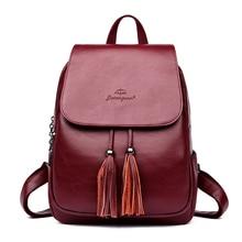 Купить с кэшбэком Luxury Women Backpack Designer High Quality Leather Women Bag Fashion School Bags Travel Bags Bolsas Mochila Feminina
