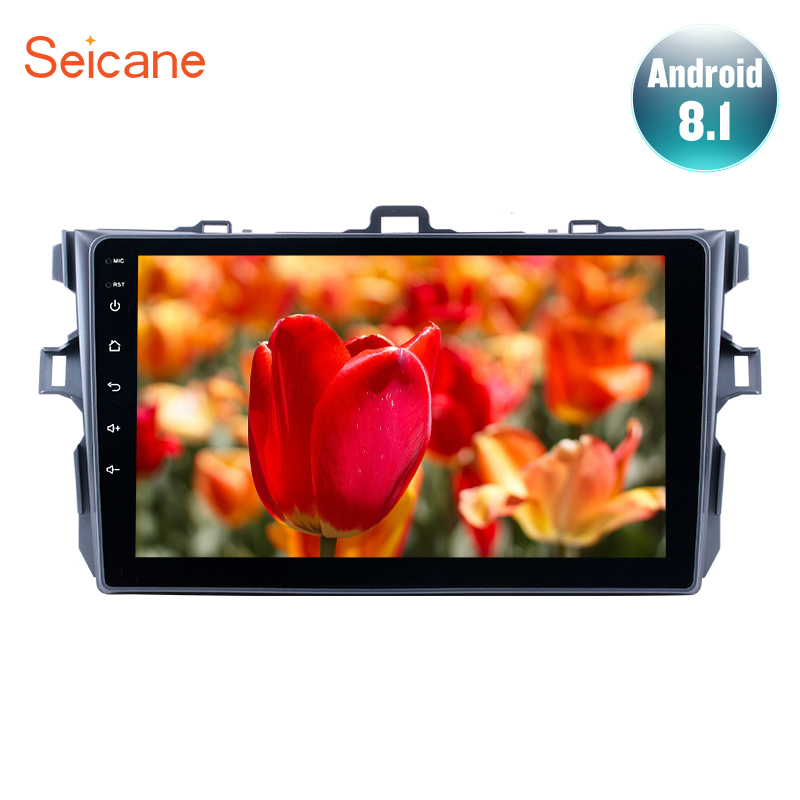 Seicane 9 inch Android 8.1 For 2006 2007 2009 2010 2011 2012 Toyota Corolla Car GPS Multimedia Player Support Radio Mirror Link