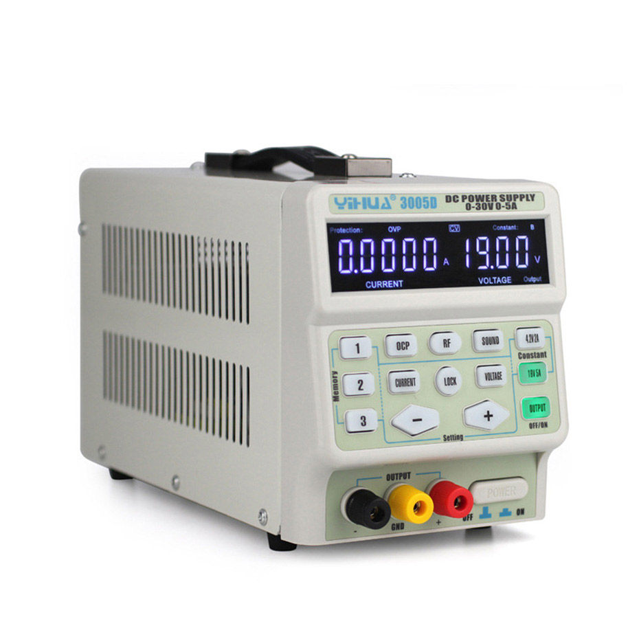 Image 3 - YIHUA 3005D DC Power Supply Digital program control 30V 5A Precise adjustment mobile phone signal test function DC Power Supply-in Voltage Regulators/Stabilizers from Home Improvement