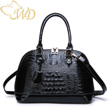 WDbag 2019 New Patent Leather Women Fashion Handbags Lady Dress Shell Bag Casual Shoulder Bags for Large Portable