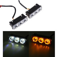 1pieces Waterproof Car High Power Aluminum DRL LED Daytime Running Light With Lens DC 12v Xenon