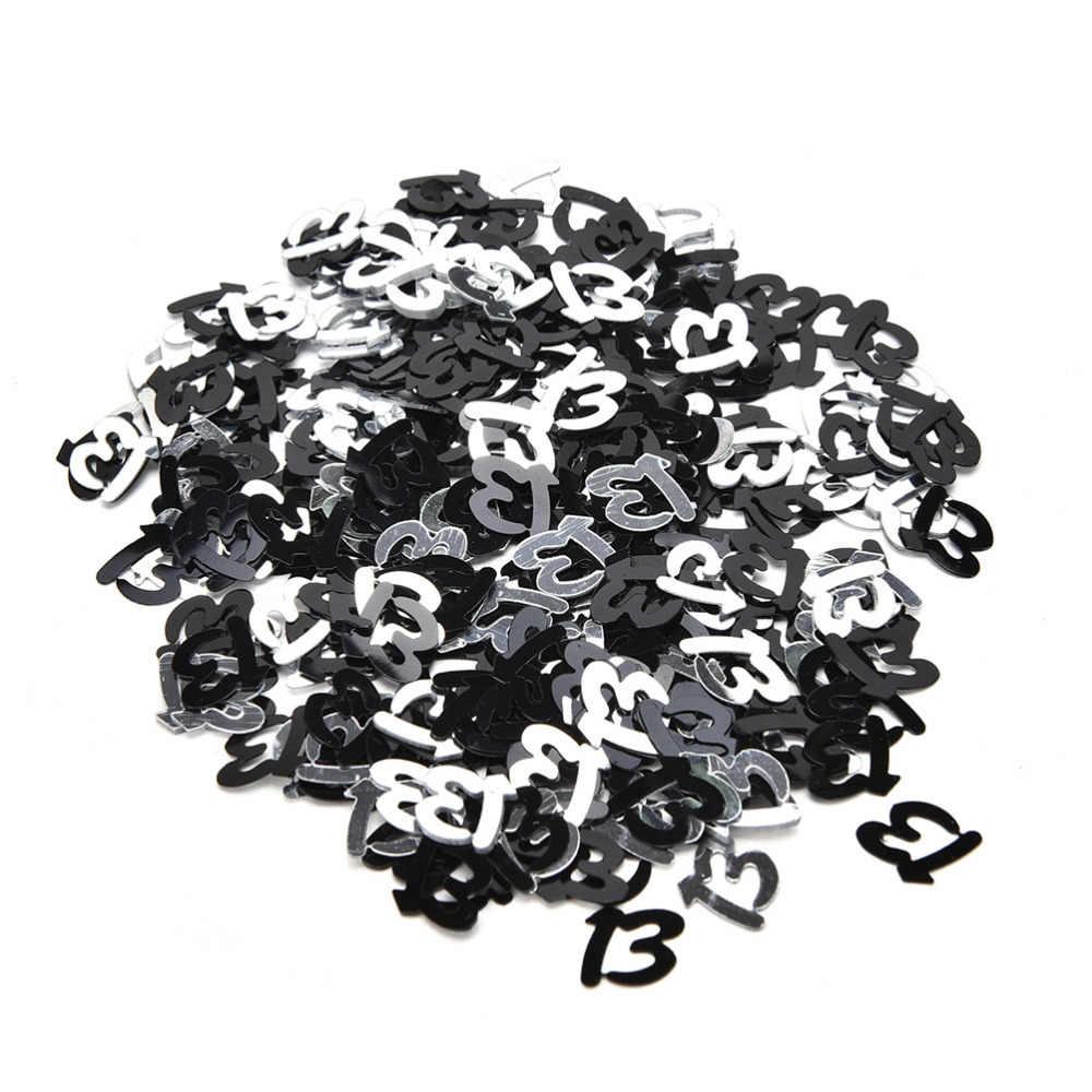 1 แพ็ค Sliver สี confetti อายุ 13th 16th 18th 21th วันเกิดแฮปปี้ชุดตกแต่งพรรค Confetti Party ตกแต่ง