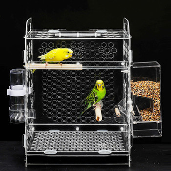 1 PCS Pet bird cage parrot breeding cage tiger skin peony cloud acacia bird small acrylic bird cage AP11261526