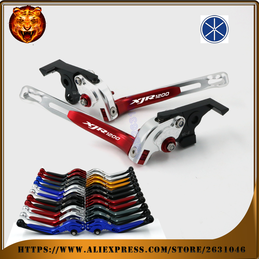 Motorcycle Adjustable Folding Extendable Brake Clutch Lever For YAMAHA XJR 1200 XJR1200 1994 1996 1997 FREE SHIPPING Aluminum billet alu folding adjustable brake clutch levers for motoguzzi griso 850 breva 1100 norge 1200 06 2013 07 08 1200 sport stelvio