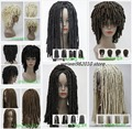 Spiral Curls Hairstyle Wig Medium Length Black Brown Auburn Dreadlock Wigs free shipping