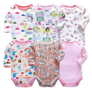 Image 2 - Baby Bodysuit Fashion 6pieces/lot Newborn Body Baby Long Sleeve Overalls Infant Boy Girl Jumpsuit kid clothes