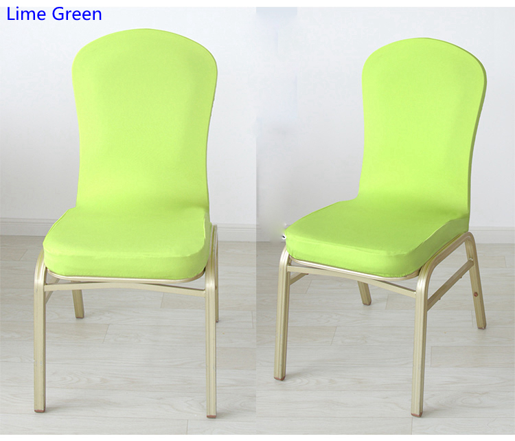 green banquet chair covers design photo lime color half style spandex for wedding hotel home decoration lycra stretch party cover