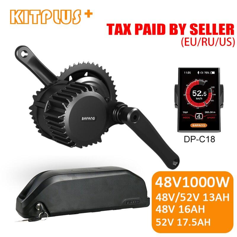 Bafang 8Fun мотор 1000 Вт 48 В BBSHD E-bike комплект с 48 В/52 в литий-ионный аккумулятор 13AH 16AH 17.5AH для электрического велосипедного двигателя