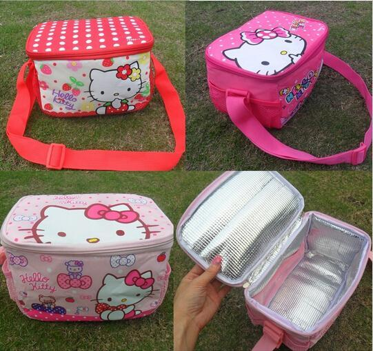Retail Hello Kitty Thermal Printing Lunch Box Bag Insulated Cooler Bag  Picnic Dining Travel Tote Bag freeshipping 24e7b29bb0c07