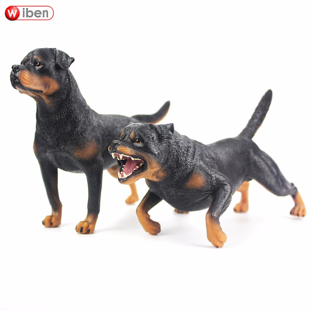 Wiben Hot toys Pet dog Rottweiler Simulation Animal model Action & Toy Figures Learning & Education Gifts balloon dog 4dmaster animal model action toy figures by jason freeny naked dog art can see through the body dog for collection