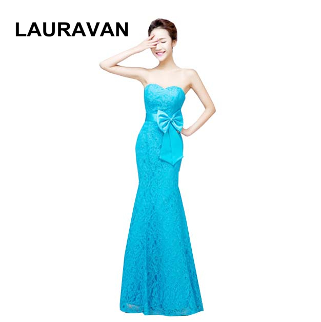 long womens blue red fitted mermaid lace 2019 new arrival   dresses   floor length party   bridesmaid     dress   gowns fashion gown
