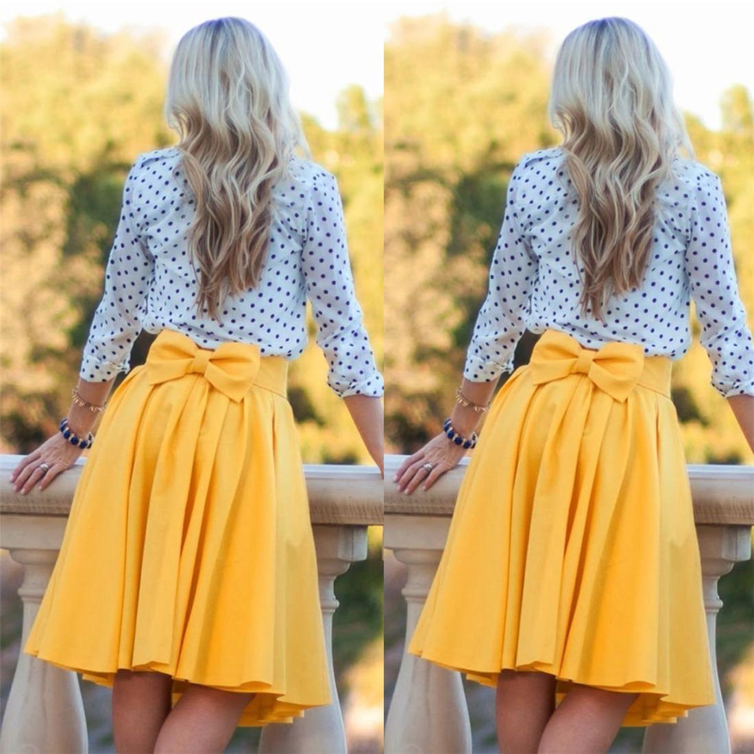 0e9825c8043f Jupe patineuse jaune longue jupe rose